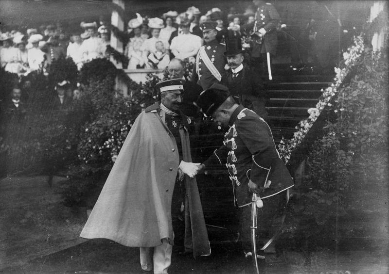 Wilhelm II. und Minister von Podbielski